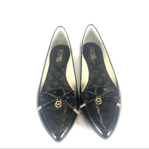 NWT Micheal Kors pointy toe leather Nancy flats 8